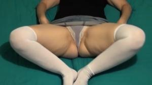 Milf Pulls Her Dick From Panties And Huge Silver Top